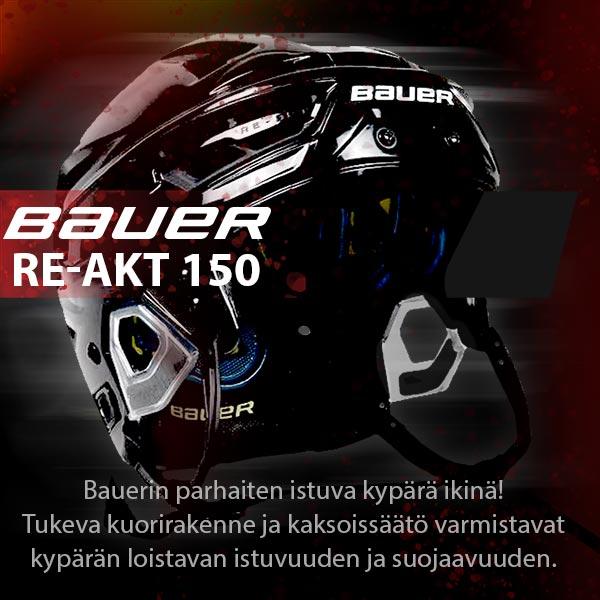 Bauer Re-Akt 150 huippu-uutuus Hockey Basesta: Kypärässä kahden suunnan säätö ja tukeva kuorirakenne