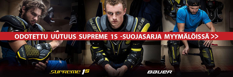 Odotettu täysin uudistunut Bauer Supreme 1S -varustesarja Hockey Base myymälöistä!