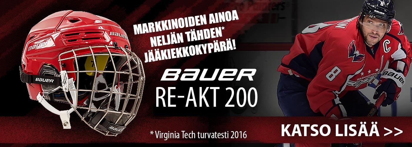 Bauer RE-AKT200 jääkiekkokypärä on saapunut: Ainoa 4 tähteä Virginia Techin testeissä saanut jääkiekkokypärä!