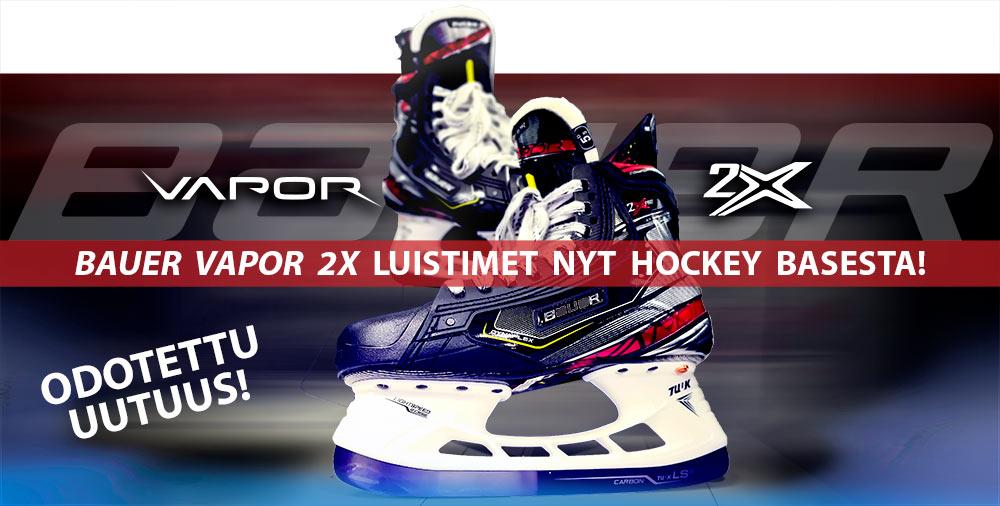 Odotettu uudistus: Bauer Vapor 2X sarjan luistimet nyt saatavilla Hockey Basesta!