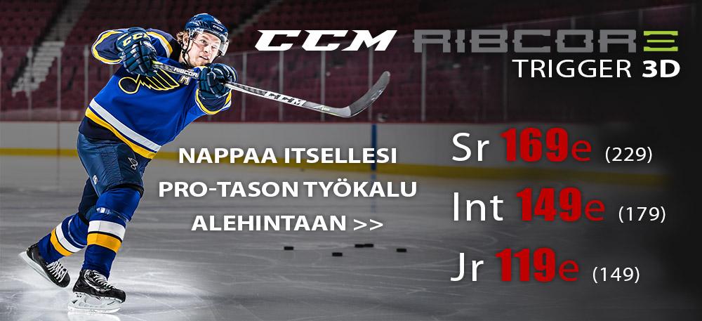 CCM Ribcor Trigger 3D nyt Hockey Basesta alehintaan!
