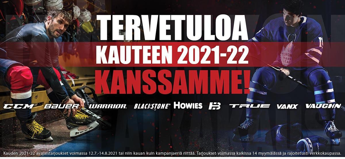 Tervetuloa kauteen 2021-22 Hockey Basen kautta - KAIKKI jääkiekkoilijan tarvikkeet saman katon alta!
