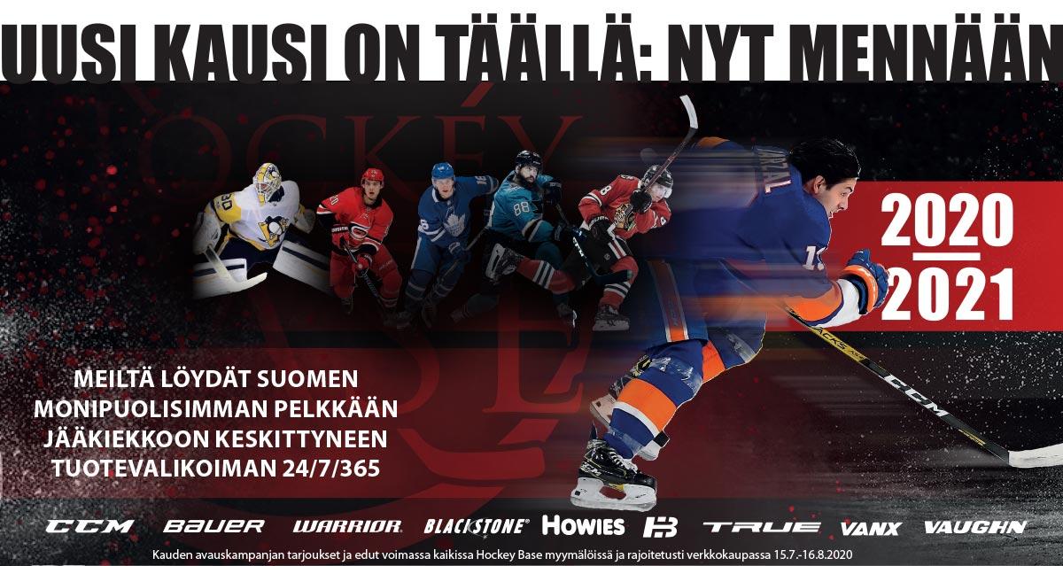 Hockey Basesta löydät kaiken uuteen kauteen 365/24/7