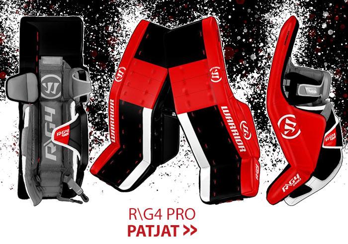 Warrior Ritual G4 pro  maalivahdin patjoja erikoisväreissä nyt suoraan Hockey Base myymälöistä: Katso valikoima nettikaupasta ja nappaa väriä maalinsuulle!