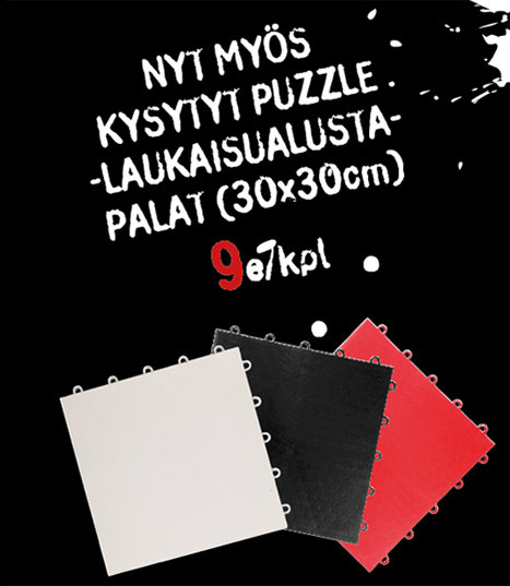 Puzzle-laukaisualustat nyt Hockey Basesta 9e/kpl (30x30cm)