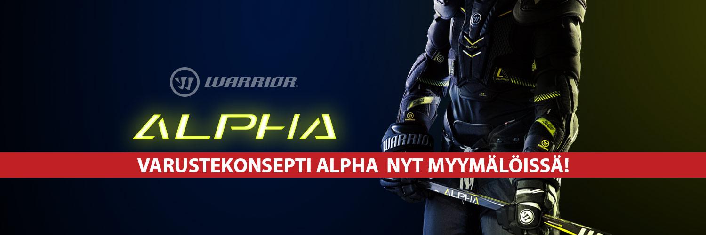 Warriorin täysin uudistuneet pelaajan  varusteet Warrior APLHA nyt kaikissa Hockey Base -myymälöissä