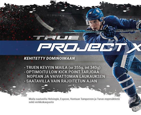 True Project X on täällä! Huippuvalmistajan Limited Edition huippumaila saatavilla Hockey Basesta rajoitetun ajan.
