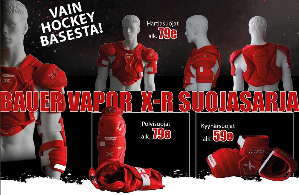 Bauer Vapor X-R suojat kaikista Hockey Base myymälöistä ja verkkokaupasta!