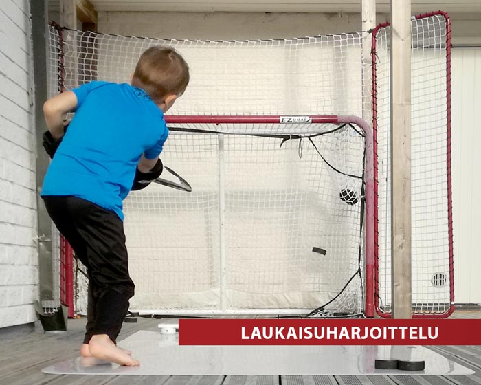 Laukaisuharjoitteluun maalit, laukaisualustat ja muut tarvikkeet Hockey Basesta!